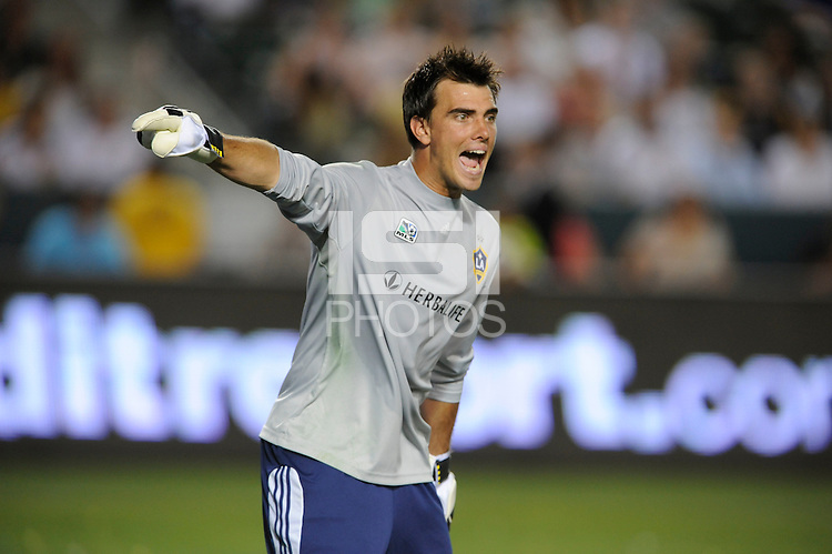 Los Angeles Galaxy goalie Steve Cronn during a game against the Columbus Crew at the Home Depot Center in Carson, CA on Saturday, June 21, 2008..