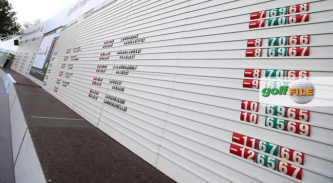 Huge leaderboard in the tented village, ahead of  Round Three of the 2015 BMW International Open at Golfclub Munchen Eichenried, Eichenried, Munich, Germany. 27/06/2015. Picture David Lloyd | www.golffile.ie