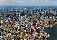aerial photograph Stuyvesant Town Peter Cooper Village to midtown Manhattan, New York City