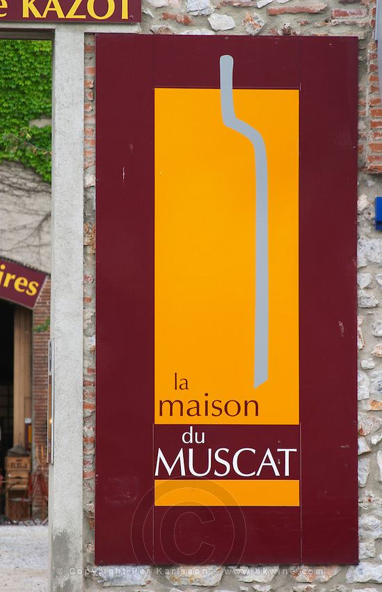 Wine shop. Maison du Muscat. Rivesaltes town, Roussillon, France