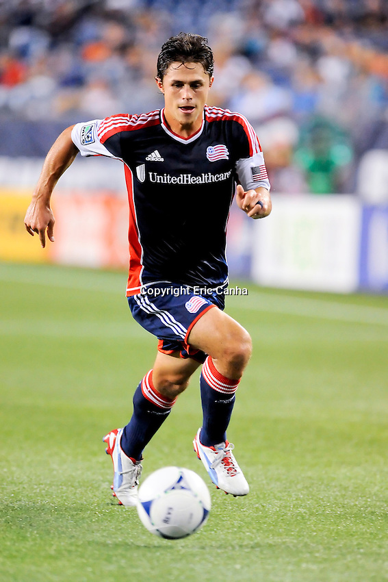 September 5, 2012 New England Revolution midfielder Ryan Guy #13  in game action during the New England Revolution vs Columbus Crew MLS game held at Gillette Stadium, in Foxborough, Massachusetts.  Eric Canha/CSM
