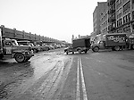 Pittsburgh PA - View of the produce yards on Smallman Street during the early morning rush - 1956.  On location assignment for Commonnwealth Realty, selling the Thorofare warehouse building