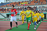 (L to R) Kyoko Yano (Urawa Reds Ladies), Risa Fukasawa (JEF United Ladies),.APRIL 21, 2012 - Football/Soccer : 2012 Plenus Nadeshiko League,2nd sec match between JEF United Ichihara Chiba Ladies 0-0 Urawa Reds Diamonds Ladies at Ichihara Rinkai Stadium , Chiba, Japan. (Photo by Jun Tsukida/AFLO SPORT) [0003]