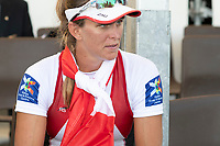 Lucerne, SWITZERLAND, 15th July 2018, Sunday Women's Single Sculls, Bronze Medalist, CAN W1X, Carling ZEEMAN, FISA World Cup III Lake Rotsee, © Peter SPURRIER,