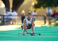 STANFORD, CA - September 3, 2010: Camille Gandhi during a field hockey match against UC Davis in Stanford, California. Stanford won 3-1.