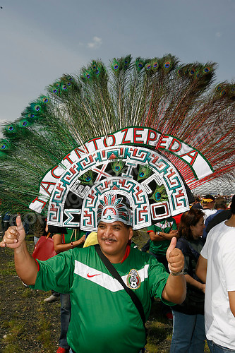 Jun 9, 2006; Munich, GERMANY; Mexican soccer fan Jacinto Zepeda from Mexico City gives a thumbs up at the stadium in Munich prior to the opening game of the World Cup. Germany plays Costa Rica in Munich and Poland plays Ecuador in Gelsenkirchen in Group A first round action. Mandatory Credit: Ron Scheffler-US PRESSWIRE Copyright © Ron Scheffler