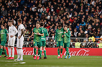 6th February 2020; Estadio Santiago Bernabeu, Madrid, Spain; Copa Del Rey Football, Real Madrid versus Real Sociedad; Martin Odegaard (Real Sociedad) celebrates his goal which made 0-1 in the 22nd minute