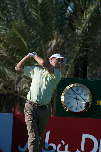 19.01.2013 Abu Dhabi, United Arab Emirates.  Richard Green in action during the European Tour HSBC Golf championship  third round from the Abu Dhabi Golf Club.