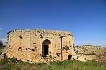 Israel, Upper Galilee, the Crusader Hunin fortress in Margaliot