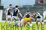Bryan Sheehan South Kerry in action against Padraig O'Connor Legion at the Kerry County Senior Football Final at Fitzgerald Stadium on Sunday.