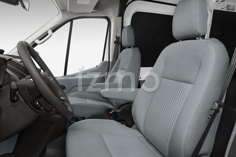Front seat view of a 2015 Ford Transit 250 Van Med Roof Sliding Pass. 130 WB 2 Door Van Front Seat car photos