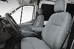 Front seat view of a 2018 Ford Transit 250 Van Med Roof Sliding Pass. 130 WB 2 Door Van Front Seat car photos