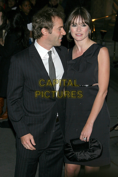ALESSANDRO NIVOLA & EMILY MORTIMER.2007 National Board of Review of Motion Pictures Awards Gala at Cipriani 42nd Street, New York, NY, USA..January 15th, 2008.half length black dress bag purse married husband wife profile .CAP/LNC/TOM.©TOM/LNC/Capital Pictures