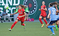 Portland, Oregon - Saturday July 2, 2016: Portland Thorns FC forward Nadia Nadim (9) during a regular season National Women's Soccer League (NWSL) match at Providence Park.