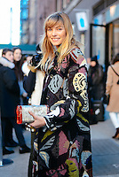 Jessica Hart attends Day 2 of New York Fashion Week on Feb 13, 2015 (Photo by Hunter Abrams/Guest of a Guest)