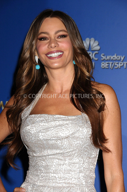 WWW.ACEPIXS.COM . . . . .  ..... . . . . US SALES ONLY . . . . .....December 15 2011, LA....Sofia Vergara at the 69th Golden Globe Awards nominations announcement at the Beverly Hilton Hotel on December 15 2011 in Los Angeles ....Please byline: FAMOUS-ACE PICTURES... . . . .  ....Ace Pictures, Inc:  ..Tel: (212) 243-8787..e-mail: info@acepixs.com..web: http://www.acepixs.com