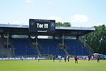 Torjubel ohne Zuschauer nach Kevin Koffis Tor zum 1:2 beim Spiel in der 3. Liga, SV Waldhof Mannheim - KFC Uerdingen 05.<br /> <br /> Foto © PIX-Sportfotos *** Foto ist honorarpflichtig! *** Auf Anfrage in hoeherer Qualitaet/Aufloesung. Belegexemplar erbeten. Veroeffentlichung ausschliesslich fuer journalistisch-publizistische Zwecke. For editorial use only. DFL regulations prohibit any use of photographs as image sequences and/or quasi-video.
