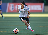 Seattle, WA - Saturday July 22, 2017: Samantha Kerr during a regular season National Women's Soccer League (NWSL) match between the Seattle Reign FC and Sky Blue FC at Memorial Stadium.