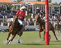 WELLINGTON, FL - MARCH 12:  Gonzalito Pieres of Audi (red jersey) and Facundo Pieres of Orchard Hill (black jersey). Scenes from the early rounds of the 26 goal USPA Gold Cup at the International Polo Club, Palm Beach on March 12, 2017 in Wellington, Florida. (Photo by Liz Lamont/Eclipse Sportswire/Getty Images)
