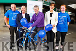 At the launch of the Pieta House Cycleton in Nolan&rsquo;s Garage on Monday.<br /> L-r, Vincent Lynch, Con O&rsquo;Connor (Pieta House), Niall Nolan, Cllr Norma Foley (Mayor of Tralee) and Sinead O&rsquo;Connor.