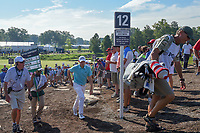Matt Fitzpatrick (ENG) heads to 12 during 1st round of the 100th PGA Championship at Bellerive Country Cllub, St. Louis, Missouri. 8/9/2018.<br /> Picture: Golffile | Ken Murray<br /> <br /> All photo usage must carry mandatory copyright credit (© Golffile | Ken Murray)