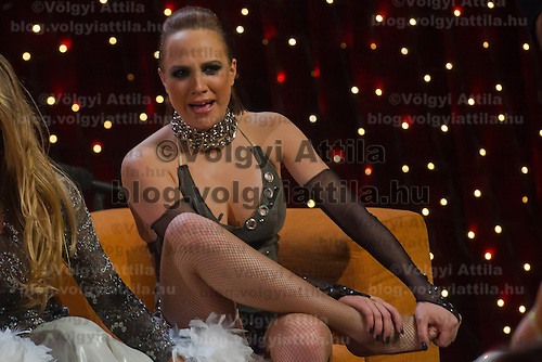 Gabi Toth in the live broadcast celebrity dancing talent show Saturday Night Fever by Hungarian television company RTL II in Budapest, Hungary on March 16, 2013. ATTILA VOLGYI