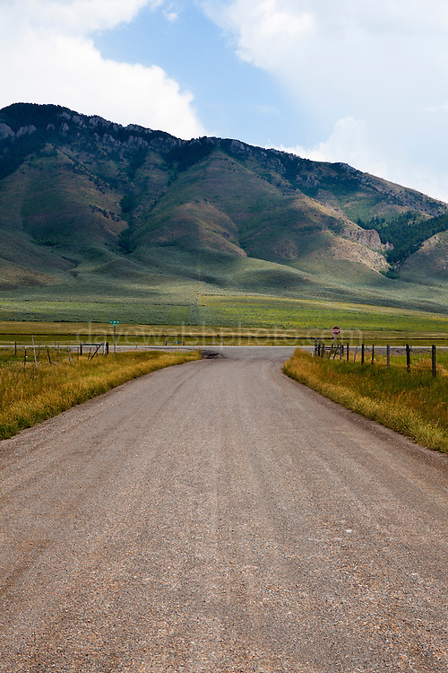 Road junction, Wyoming, USA.