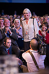 © Joel Goodman - 07973 332324 . 24/09/2013 . Brighton , UK . CATHY MURPHY (standing) who Ed Miliband referred to during the Leader's Speech to the Labour Party conference , this afternoon (24th September 2013) . Day 3 of the Labour Party Conference in Brighton . Photo credit : Joel Goodman