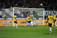 VOETBAL: HEERENVEEN: Abe Lenstra Stadion 04-04-2015, SC Heerenveen - NAC, uitslag 0-0, Henk Veerman (#20) haalt uit, ©foto Martin de Jong
