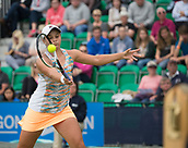 June 13th 2017, Nottingham, England; WTA Aegon Nottingham Open Tennis Tournament day 4;  Forehand volley from Ashleigh Barty of Australia