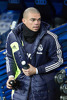 Pepe exit the changing rooms