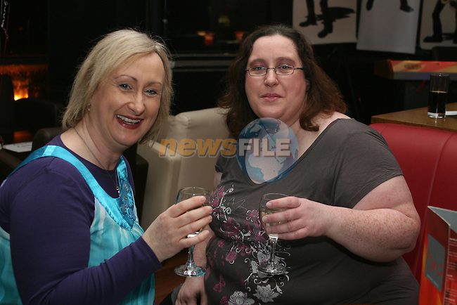 Angela Hughes and Jenny Duffy at the launch of Niall Boyle's Album in Bru...Photo NEWSFILE/Jenny Matthews.(Photo credit should read Jenny Matthews/NEWSFILE)....This Picture has been sent you under the condtions enclosed by:.Newsfile Ltd..The Studio,.Millmount Abbey,.Drogheda,.Co Meath..Ireland..Tel: +353(0)41-9871240.Fax: +353(0)41-9871260.GSM: +353(0)86-2500958.email: pictures@newsfile.ie.www.newsfile.ie.FTP: 193.120.102.198.