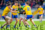 Kerry Stephen O'Brien is tackled by Neil Collins, Diarmuid Murtagh and Ronan Daly Roscommon during their NFKL Div 1 clash in Fitzgerald Stadium on Sunday