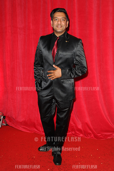 Nitin Ganatra  arriving for the 2014 British Soap Awards, at the Hackney Empire, London. 24/05/2014 Picture by: Steve Vas / Featureflash