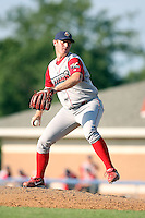 August 3rd 2008:  Pitcher B.J. Rosenberg of the Williamsport Crosscutters, Class-A affiliate of the Philadelphia Phillies, during a game at Dwyer Stadium in Batavia, NY.  Photo by:  Mike Janes/Four Seam Images
