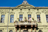 Baroque fron of a palace in  Sopron, Hungary