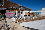 MEXICO BEACH, FL 0CT 18: Charles Smith stands next to what used to be his Gulf View Motel in Mexico Beach, Florida after Hurricane Michael October 18, 2018.
