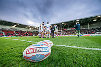 Picture by Allan McKenzie/SWpix.com - 06/04/2018 - Rugby League - Betfred Super League - St Helens v Hull FC - The Totally Wicked Stadium, Langtree Park, St Helens, England - St Helens prepare to take on Hull FC in their Betfred Super League clash.