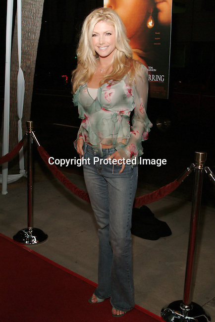 Brande Roderick <br />GIRL WITH A PEARL EARRING   Los Angeles Premiere<br />The Academy of Motion Pictures Arts &amp; Sciences, Samuel Goldwyn Theatre<br />Beverly Hills, CA, USA<br />Wednesday, December 10th, 2003    <br />Photo By Celebrityvibe.com/Photovibe.com