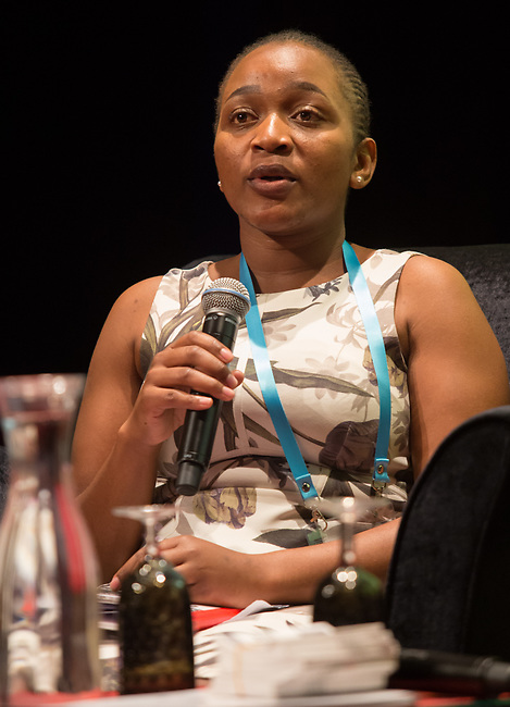 25 June, 2018, Kuala Lumpur, Malaysia : Vimbai Ndonde of Zimbabwe speaks at the panel discussion on Value and Risk of Criminalising Child Marriage on the opening day at the Girls Not Brides Global Meeting 2018 at the Kuala Lumpur Convention Centre. Picture by Graham Crouch/Girls Not Brides