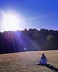 Sunrise at the Kripalu Institute, Lenox, Mass.