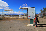 Parabolic disc heliostats at the solar energy scientific research centre, Tabernas, Almeria, Spain