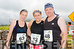 Istel Fitzgerald, Annie Mccaffrey and Randal Wharton at the Run the Kingdom Camp 10 mile summer trail in aid of the The Irish Heart Foundation on Saturday