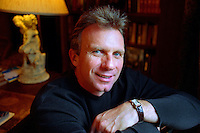 ATHERTON, CA - San Francisco 49ers quarterback Joe Montana at his home in Atherton, California on January 12, 2000. Photo by Brad Mangin