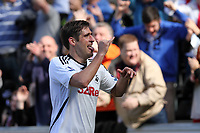 Barclay Premier League, Swansea City (white) V Liverpool (red) Liberty Stadium, 13/05/12<br /> Pictured: Danny Graham celebrates his goal.<br /> Picture by: Ben Wyeth / Athena <br /> info@athena-pictures.com