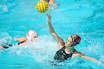LOS ANGELES, CA - MAY 13: Brianna Daboub #11 of the University of Southern California attempts a pass during the Division I Women's Water Polo Championship held at the Uytengsu Aquatics Center on the USC campus on May 13, 2018 in Los Angeles, California. USC defeated Stanford 5-4. (Photo by Tim Nwachukwu/NCAA Photos via Getty Images)