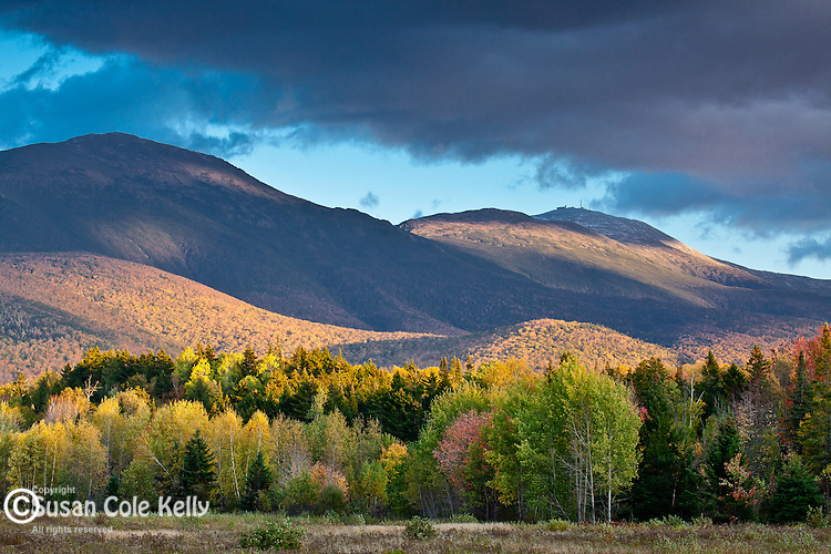 Evening light on the Presidential Range in the White Mountain National Forest, NH, USA