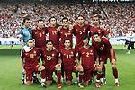 08 July 2006: Portugal starting eleven.  Front row (l to r): Maniche (POR), Deco (POR), Simao Sabrosa (POR), Paulo Ferreira (POR), Cristiano Ronaldo (POR).  Back row (l to r): Ricardo (POR), Pauleta (POR), Nuno Valente (POR), Ricardo Costa (POR), Fernando Meira(POR), Costinha (POR). Germany defeated Portugal 3-1 at the Gottlieb-Daimler Stadion in Stuttgart, Germany in match 63, the third-place game, of the 2006 FIFA World Cup.
