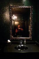 Self portrait in the bathroom of Hotel ZaZa in Houston in 2012.