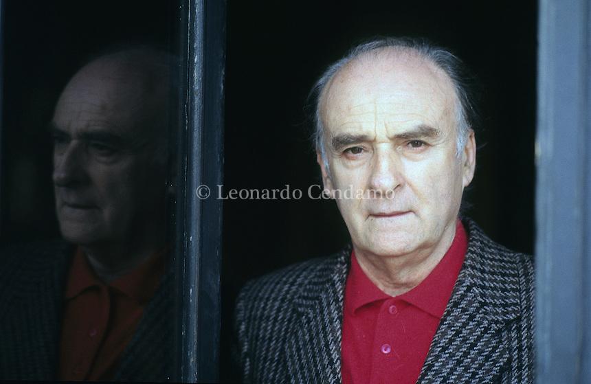 Andrea Zanzotto, poeta dialettale, Premio P.P.Pasolini Pesaro 1989-  © Leonardo Cendamo